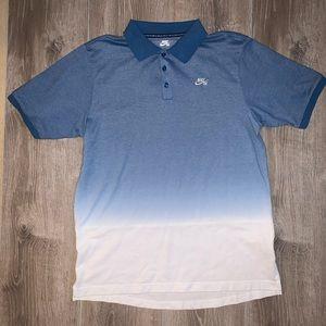Nike SB Skateboarding DriFit Polo Shirt Blue White